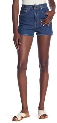 rag & bone\u002FJEAN Derby High Waist Denim Shorts (Indigo Rinse)