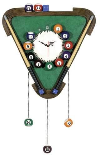 RAM Game Room Game Room Billiards Wall Clock