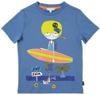 Little Marc Jacobs Surf Printed Cotton Jersey T-Shirt