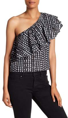 Rebecca Minkoff Lily Embroidered Gingham Top