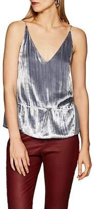 J Brand Women's Lucy Velvet & Silk Peplum Cami