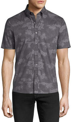 Michael Kors Camouflage-Print Short-Sleeve Sport Shirt