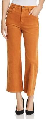 J Brand Joan High Rise Crop Wide Leg Corduroy Jeans in Titian