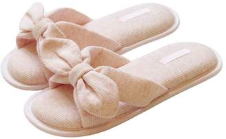 feef4665394b4 at Amazon Canada · Fortuning s JDS Women Girls Ladies Bow Cotton House  Slippers Padded Flip Flops Flatform Open Toe Sandals