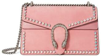 Gucci Pink Dionysus Crystal suede shoulder bag