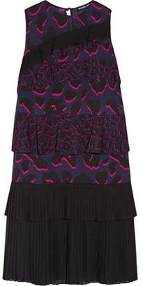 Markus Lupfer Tiered Ruffled Leopard-Print Silk-Georgette Dress
