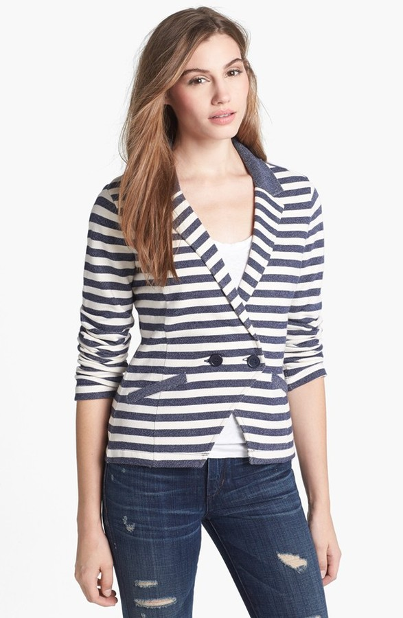 Caslon Double Breasted Knit Blazer