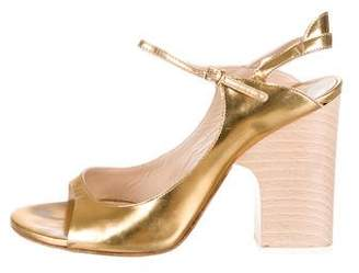 Chloé Patent Leather Slingback Sandals