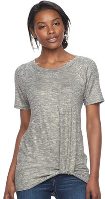 Juicy Couture Women's Juicy Couture Marled Twist Tee $40 thestylecure.com