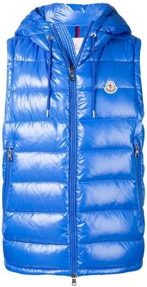 Moncler quilted hooded vest