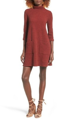Women's Everly Mock Neck Sweater Dress $49 thestylecure.com