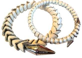 Eddie Borgo Silver Plated Enamel Serpent Spike Bangle Set of 2