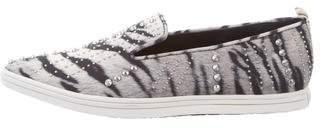Rachel Zoe Leather Pointed-Toe Sneakers