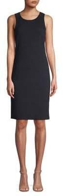 Emporio Armani Textured Jacquard Sleeveless Sheath Dress