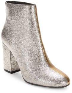 Kenneth Cole Metallic Leather Booties