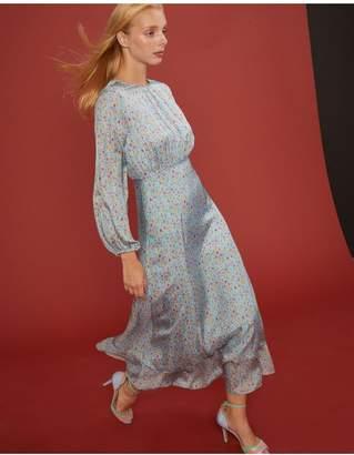 Cynthia Rowley Sea Breeze Sky Floral Bell Sleeve Dress
