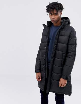 ONLY & SONS Oversized Longline Padded Jacket With Hood