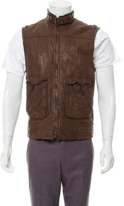 Theory Leather Utility Vest