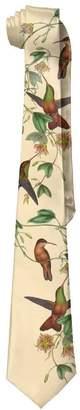 stylish&home Novelty Men's Wide Tie Long Necktie X-shaped Hummingbird Bird Polyester Silk Neck Tie
