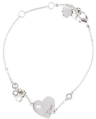b0d5d0151940 Christian Dior Crystal   Heart Charm Bracelet