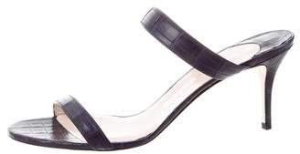 Nancy Gonzalez Maria 70 Crocodile Sandals w/ Tags