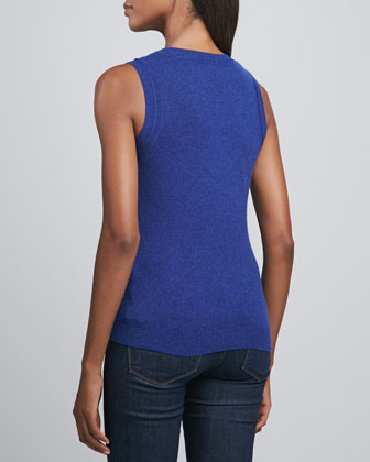 Magaschoni Scoop-Neck Cashmere Tank