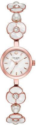 Kate Spade Metro daisy rose gold-tone bracelet watch