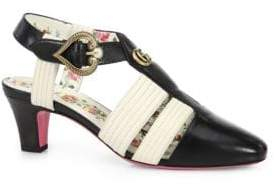 Gucci Leather T-Strap Sandals