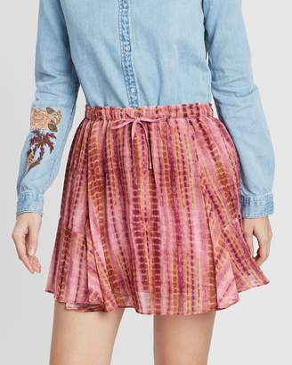 Maison Scotch Printed Short Drapey Skirt