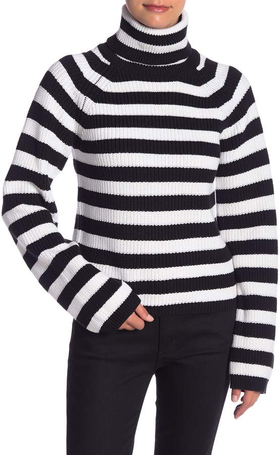 English Factory Striped Turtleneck Sweater
