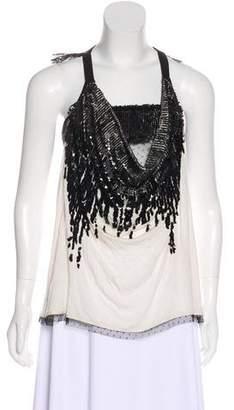 Valentino Embellished Sleeveless Top