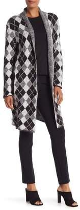 Joseph A Diamond Knit Long Sleeve Cardigan