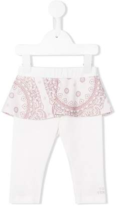 Versace skirt-layered leggings