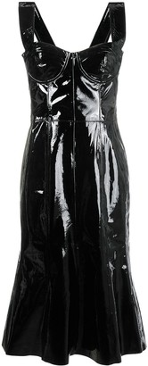 Natasha Zinko corset patent leather midi dress