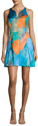 Milly Racerback Print A-Line Dress