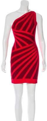 Herve Leger Carmela One-Shoulder Dress