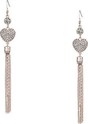 GUESS Heart Feelings Women's Tassel Drop Earrings