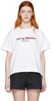 Sacai White Spring/Winter T-Shirt