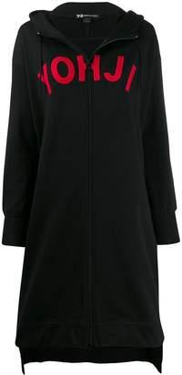 Y-3 long zipped hoodie