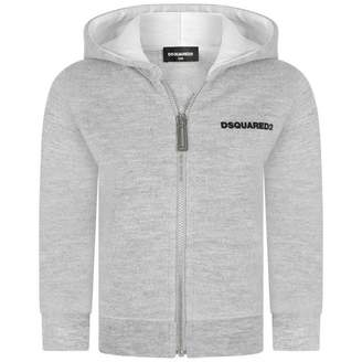 DSQUARED2 Dsquared2Baby Boys Grey Zip Up Top
