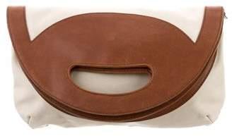 Stella McCartney Woven Fold-Over Bag