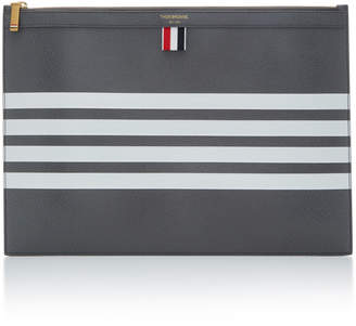 Thom Browne Striped Leather Document Holder