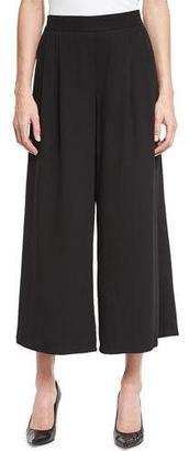 Eileen Fisher Woven Tencel® Grain Wide-Leg Cropped Pants, Petite $198 thestylecure.com