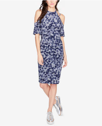 Rachel Roy Floral-Print Cold-Shoulder Dress, Created for Macy's