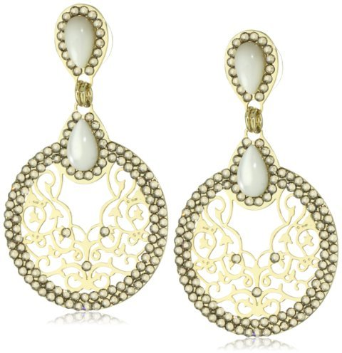 LK Designs Small Round Pave Earrings