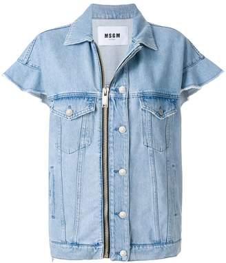 MSGM short sleeve denim jacket