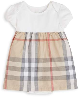 Burberry Girls' Cherry Short Sleeve Checked Dress - Baby