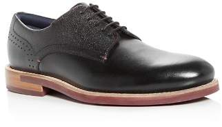 Ted Baker Men's Jhorge Mixed Leather Plain-Toe Oxfords