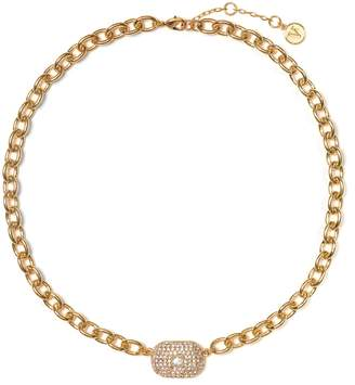 Vince Camuto Goldtone Pave Link Necklace