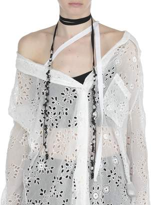 Ann Demeulemeester Silk And Cotton Necklace